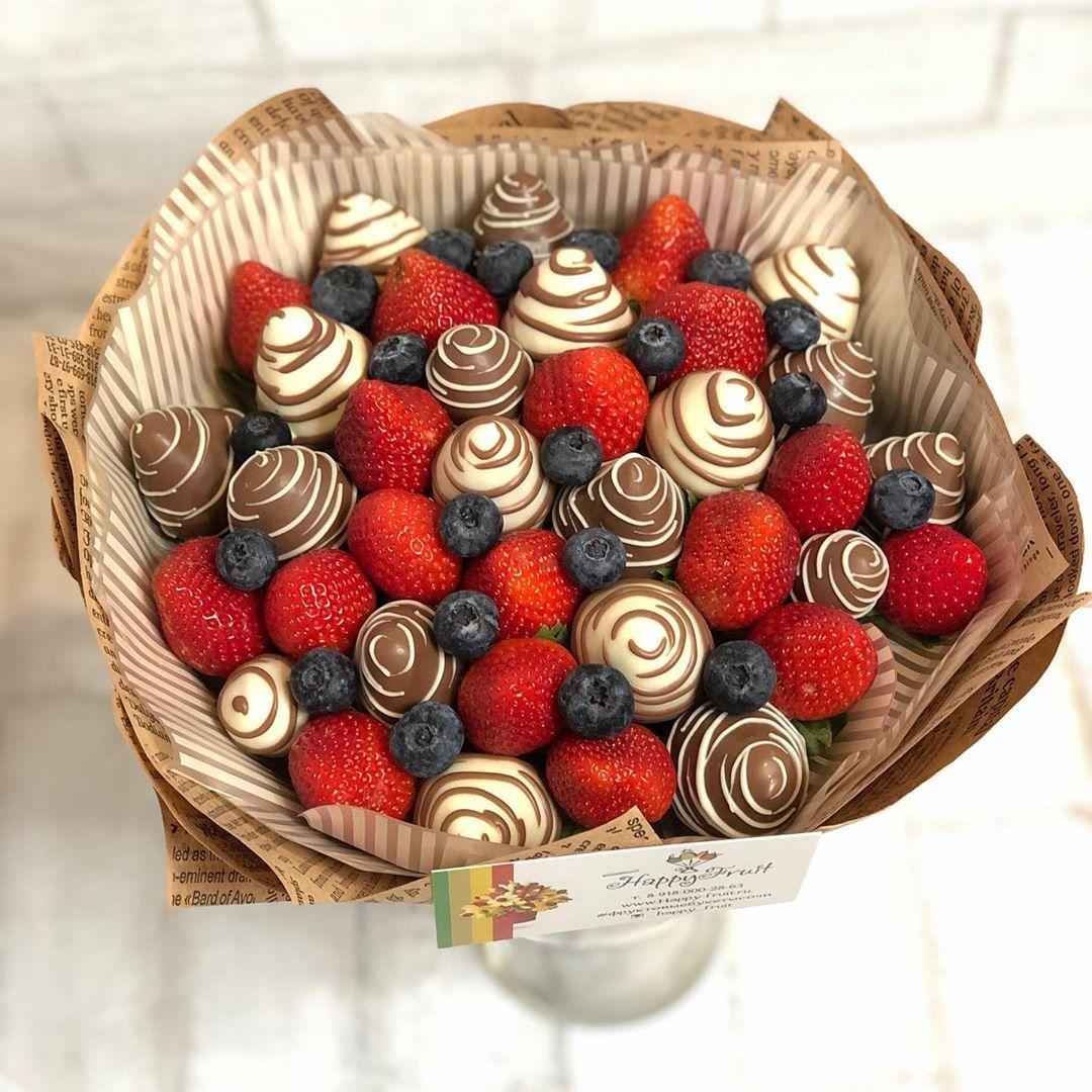 Букет из клубники в шоколаде Image